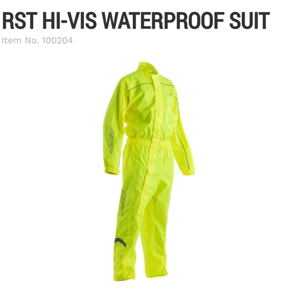 RST Hi Vis waterproof rain suit yellow
