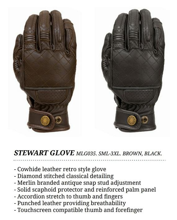 Merlin Stewart mens leather glove
