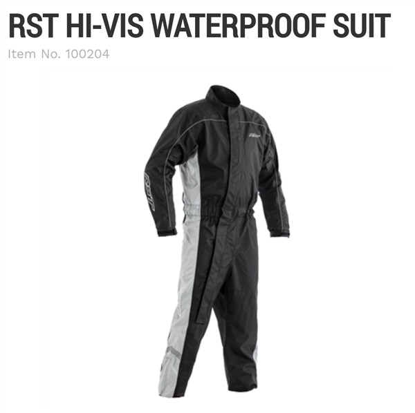 RST Hi Vis waterproof rain suit grey